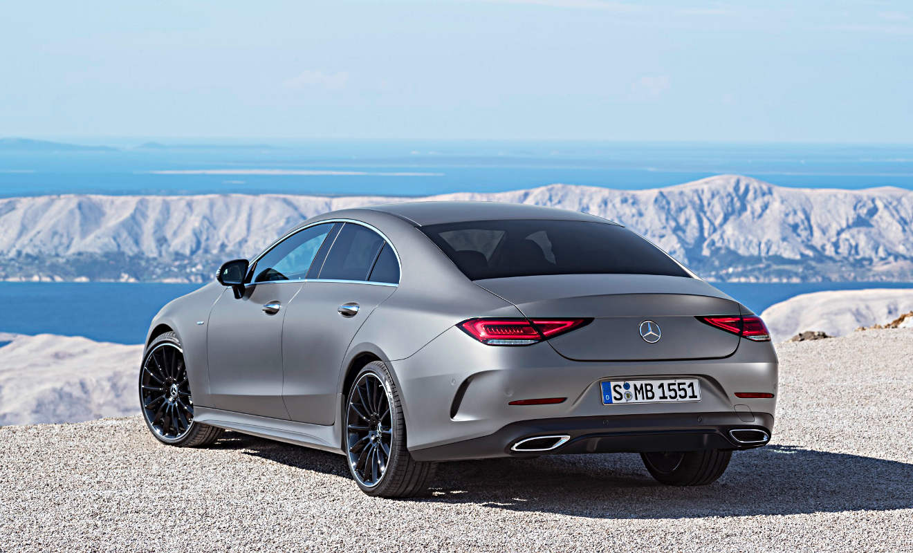 Der neue Mercedes CLS sieht auch von hinten gut aus.