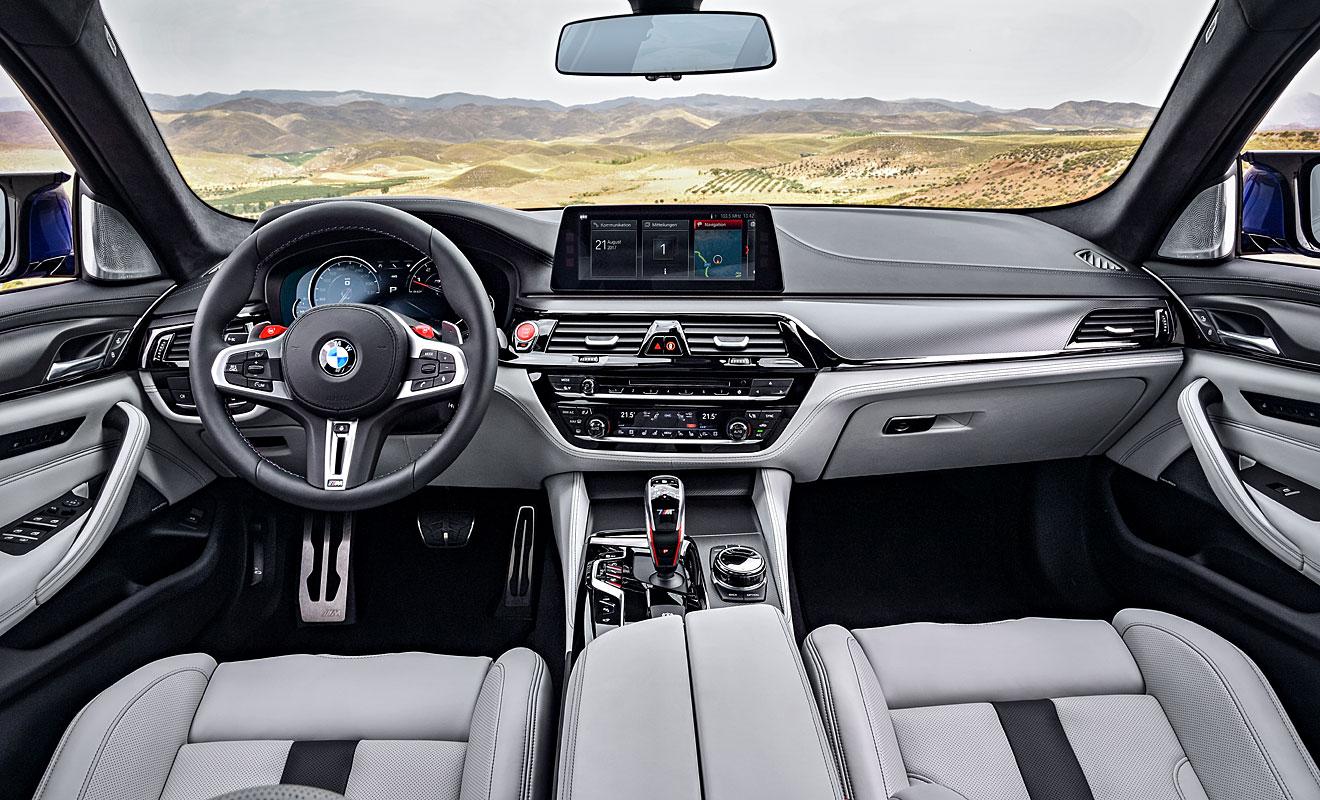 Das edle Cockpit des M5. Foto: BMW