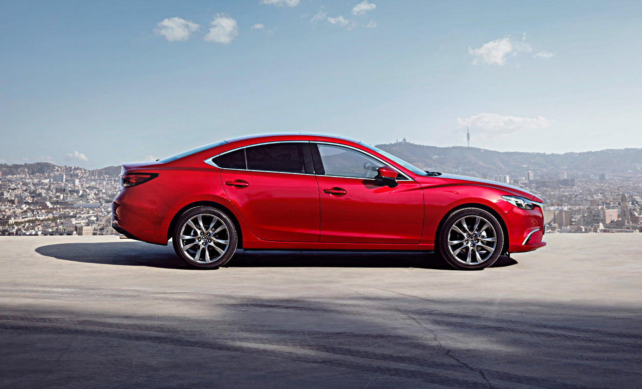 Seitenansicht des Mazda6. Foto: Mazda