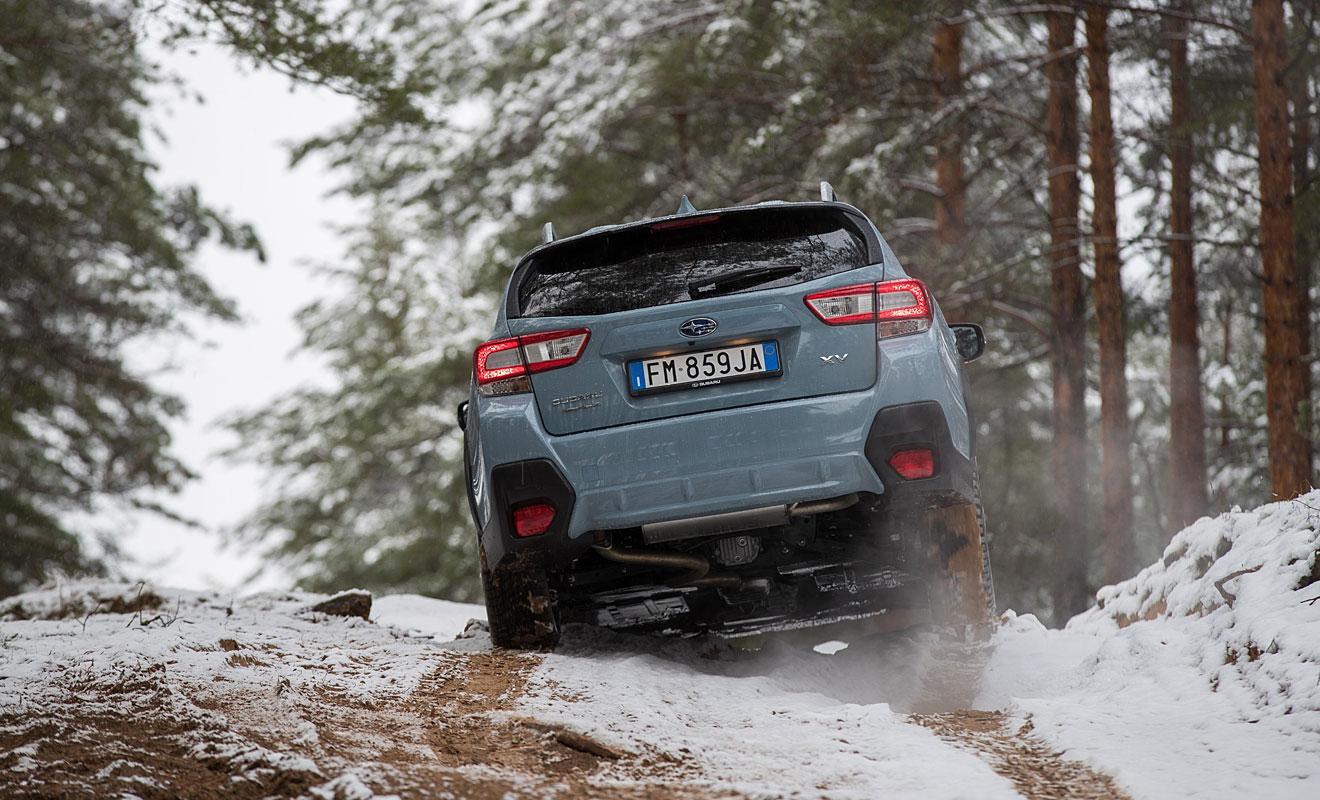 Das Heck des XV. Foto: Subaru